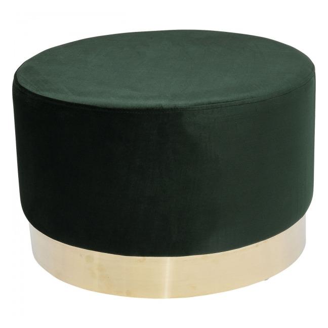 Stolička Cherry Dark Green Brass Ø55 cm