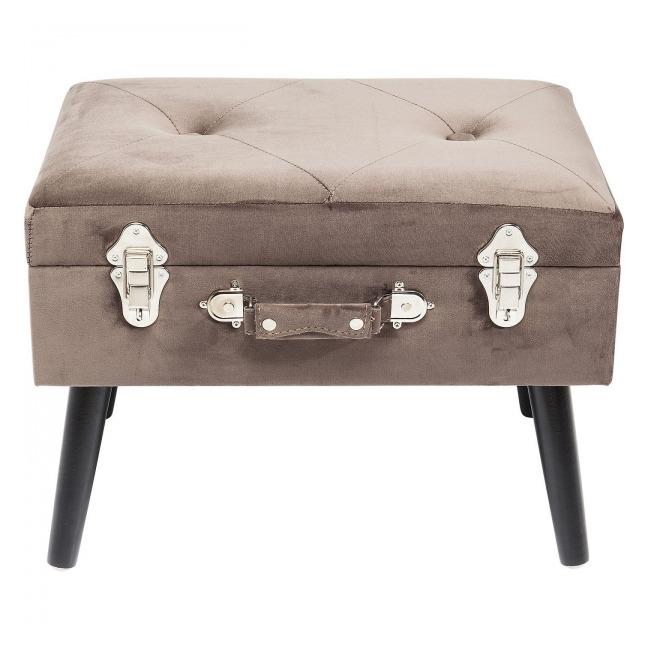 Stolička Suitcase – šedá