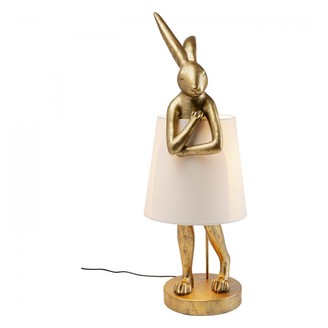 KARE DESIGN Stolní lampa Animal Rabbit – zlatá, 88 cm
