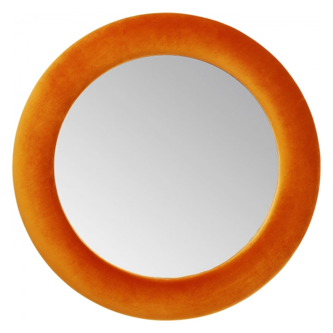 KARE DESIGN Zrcadlo Velvet Orange Ø92 cm
