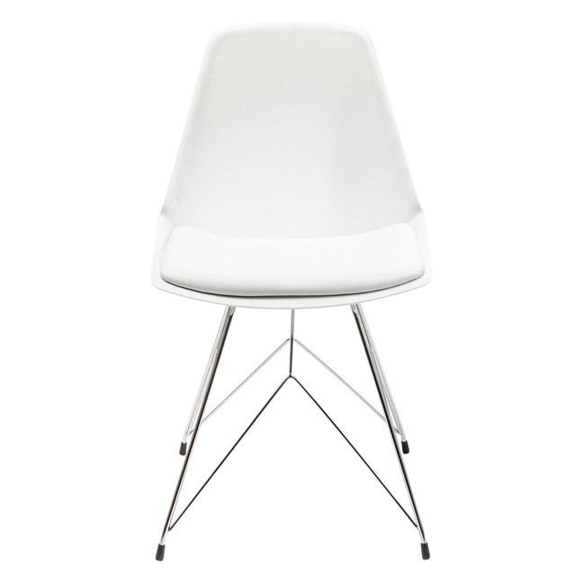 Sada 4 ks – Židle Wire – bílá