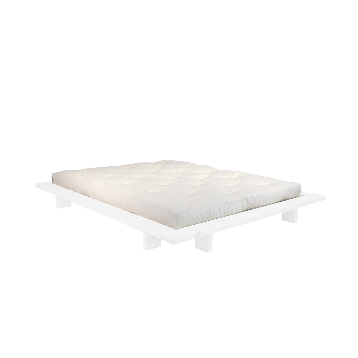 KARUP DESIGN Postel z borovicového dřeva Japan  Double Latex Mat – WhiteNatural