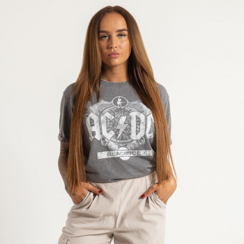 AC/DC Unisex Fashion Tee Black ICe (Burn Out)