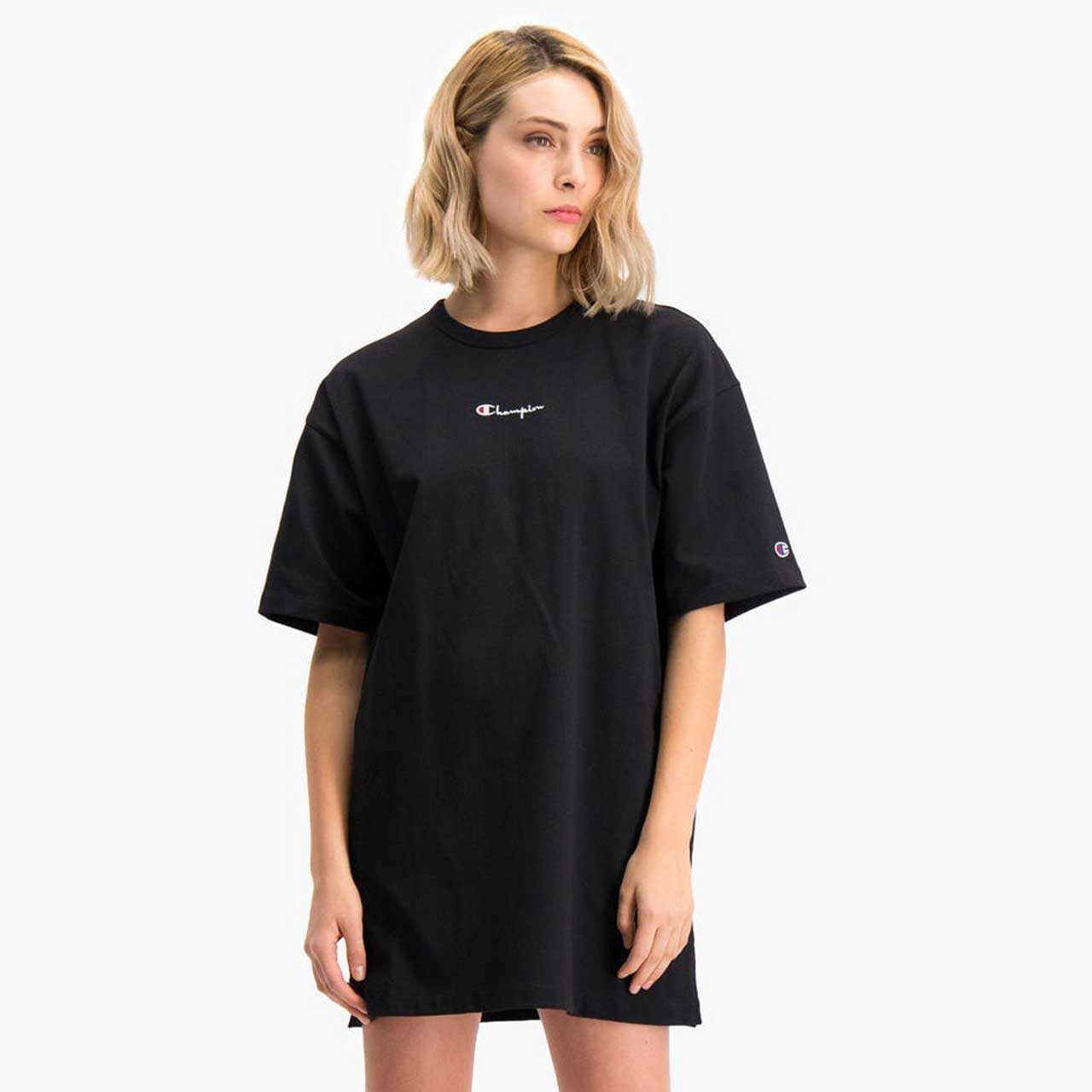 CHAMPION Černé šaty Midi T-Shirt Dress – XS