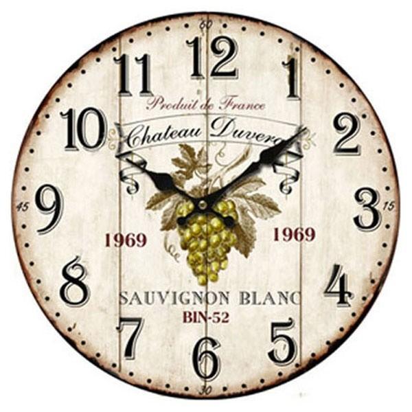 Nástěnné hodiny s motivem hroznového vína