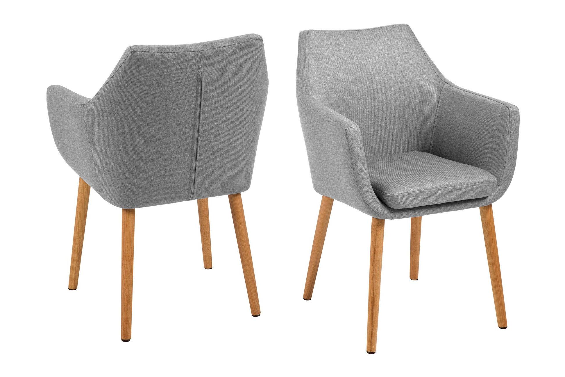 Židle s opěrkou Nora – šedá