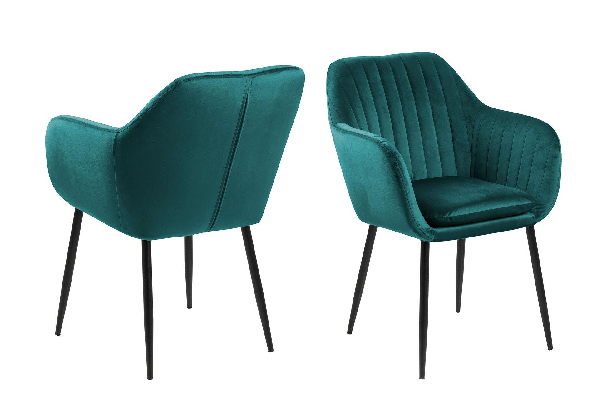 Židle s opěrkou Emilia – zelená