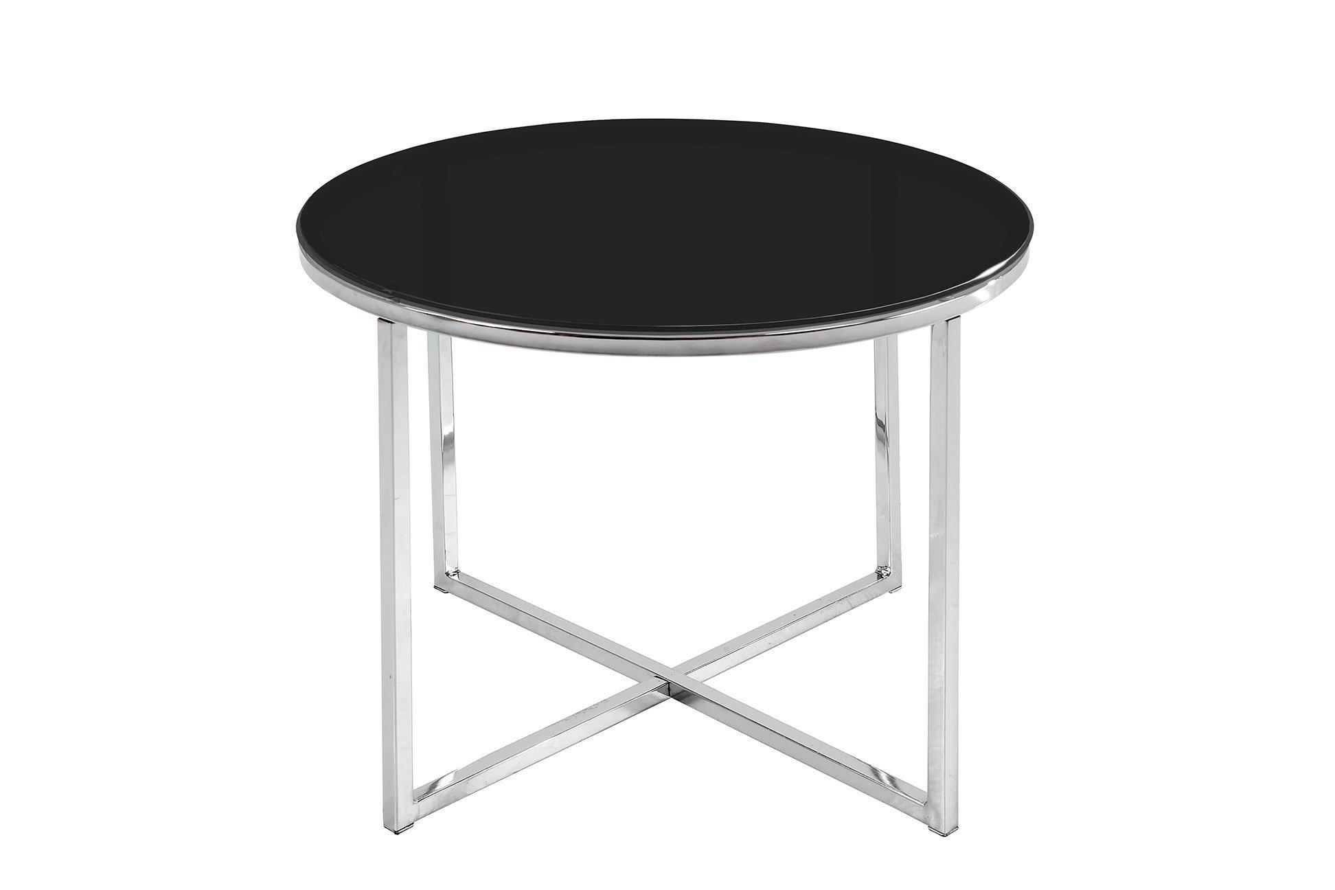 Odkládací stolek Cross – černá