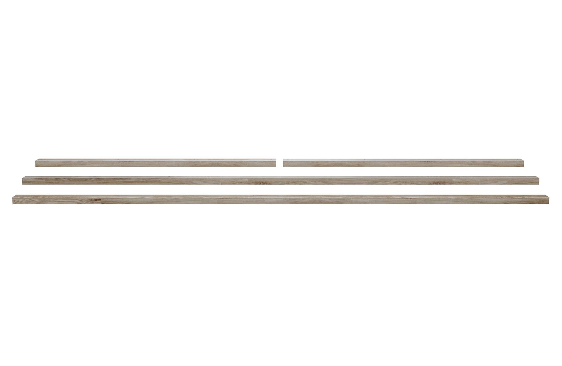 Dřevěné luby stolu Tablo – 220 × 90 cm – sada 4 ks
