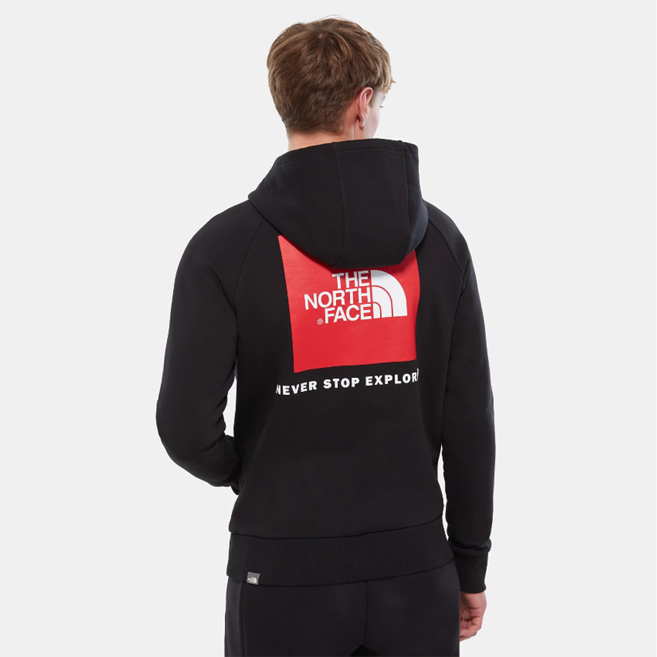 THE NORTH FACE Černá mikina Raglan Red Box HD – S