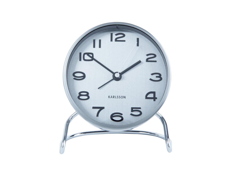 Budík Clock Classical – stříbrná