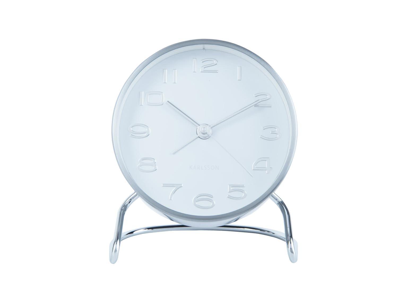 Budík Clock Classical – bílá