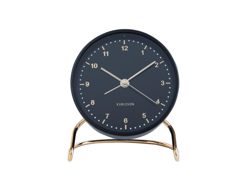 Budík Clock Stylish – černá
