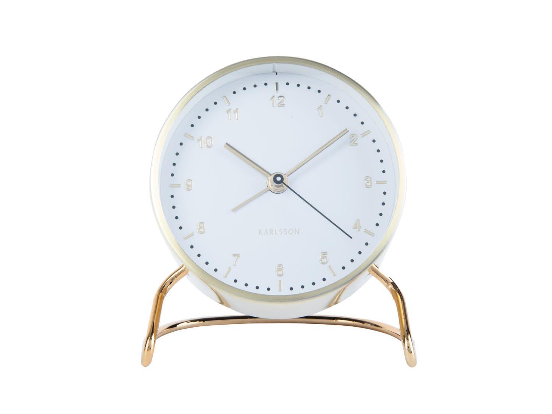Budík Clock Stylish – bílá