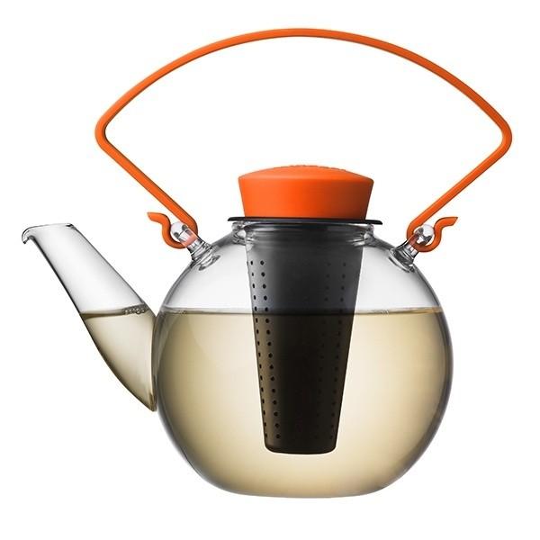 Skleněná čajová konvice Tea for U - oranžová