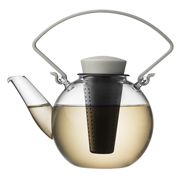 Skleněná čajová konvice Tea for U – šedá