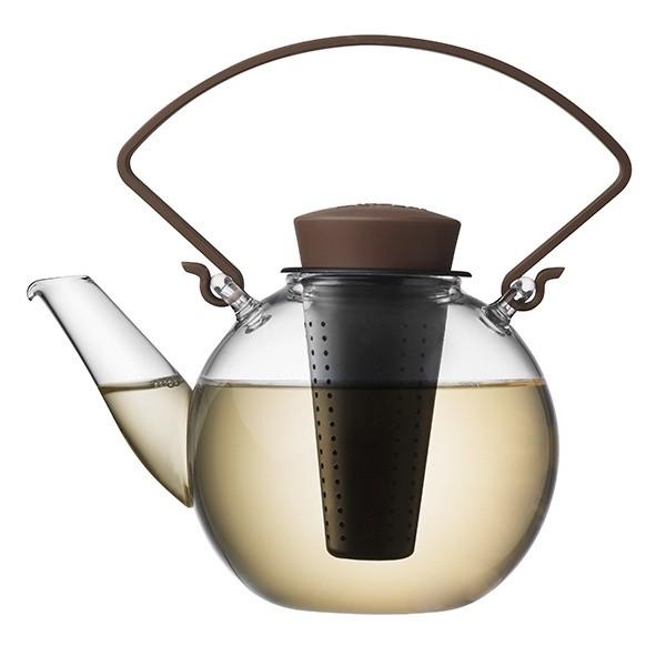 Skleněná čajová konvice Tea for U – hnědá