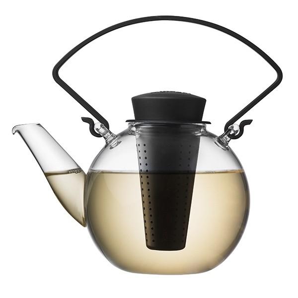 Skleněná čajová konvice Tea for U – černá