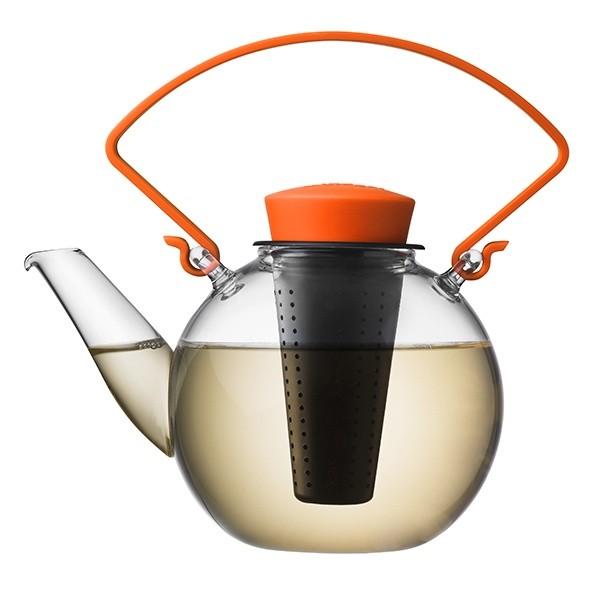 Skleněná čajová konvice Tea for U – oranžová