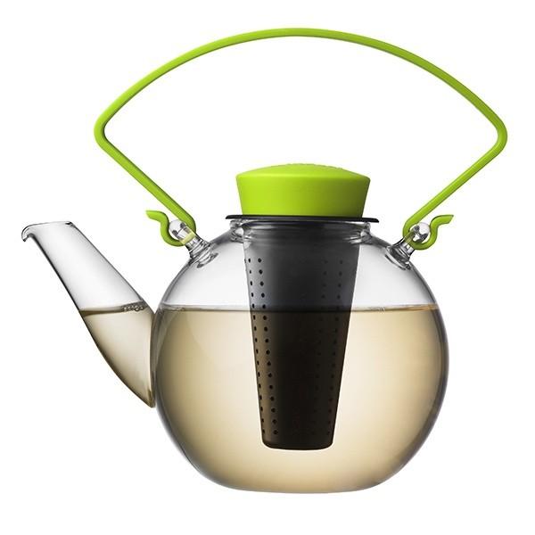 Skleněná čajová konvice Tea for U – zelená