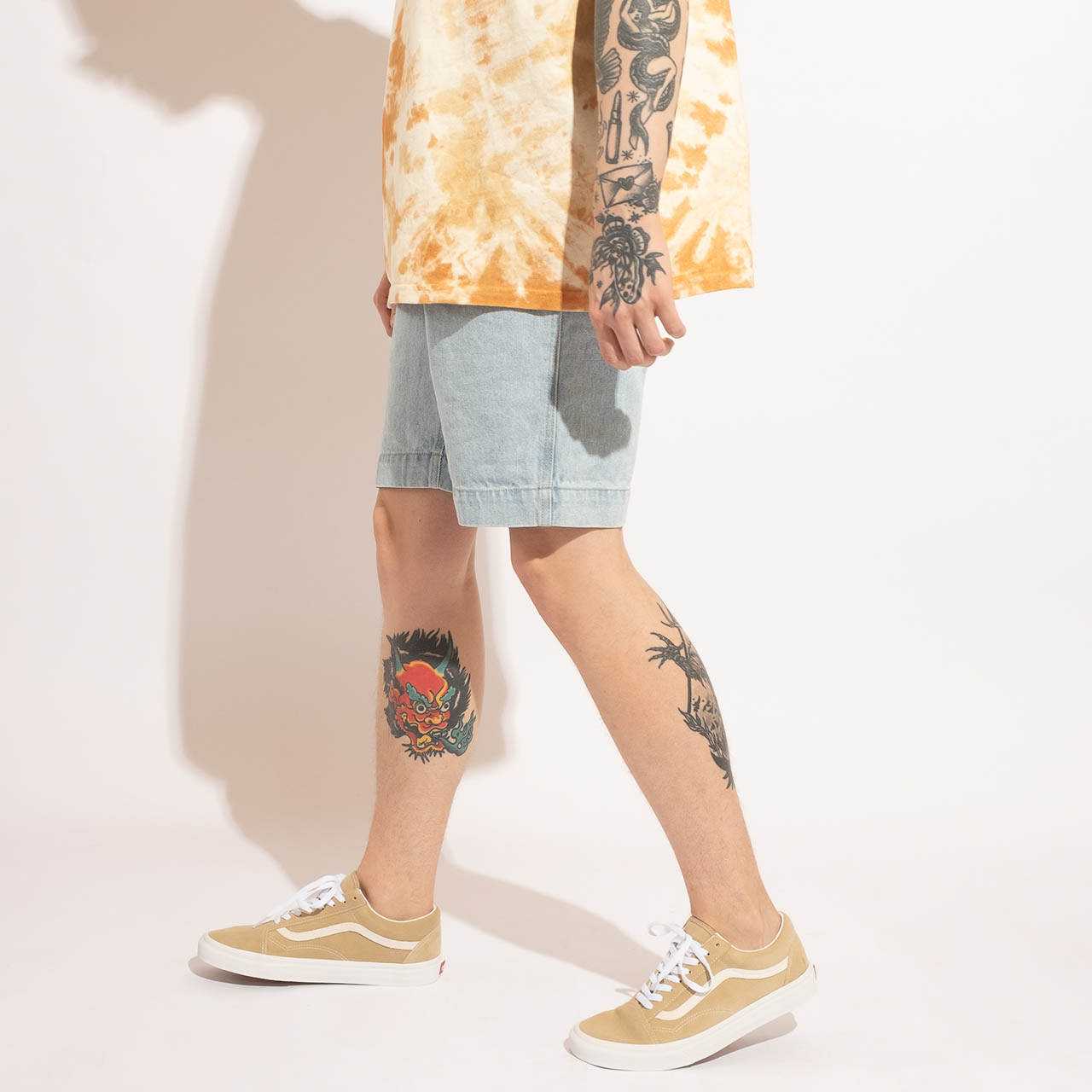 KARL KANI KK OG Rinse Denim Shorts – S