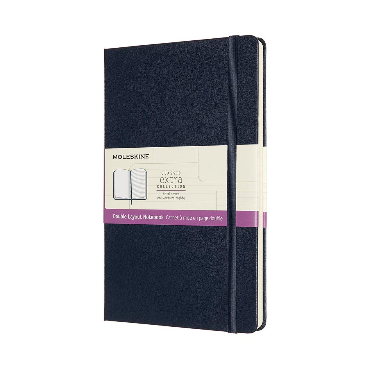 Zápisník tvrdý modrý L