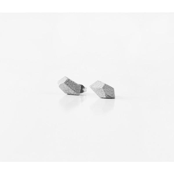 Naušnice Gravelli Rock - světle šedé