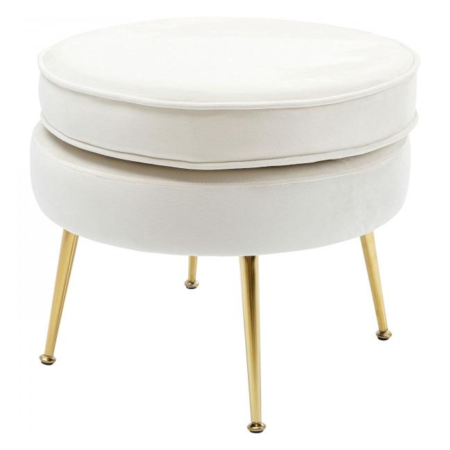 Bílá čalouněná stolička Water Lily