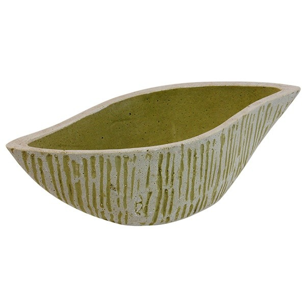 Keramický květináč Shika M - zelený