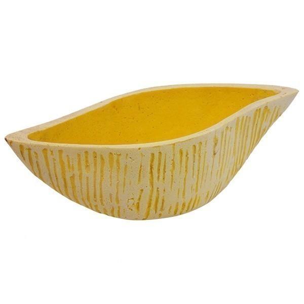 Keramický květináč Shika M - žlutý