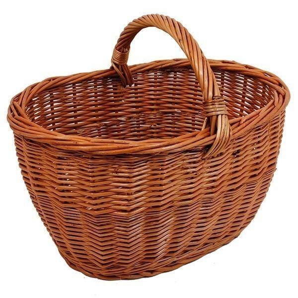 Košík Audrey - přírodní S