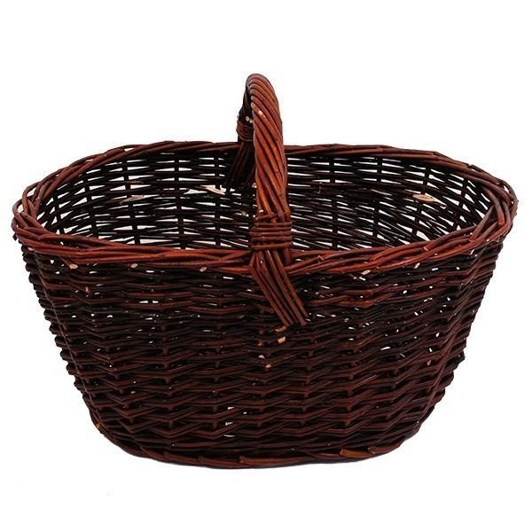 Košík Audrey - hnědý S