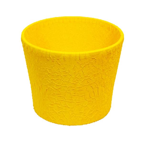 Květináč Twister L - žlutý